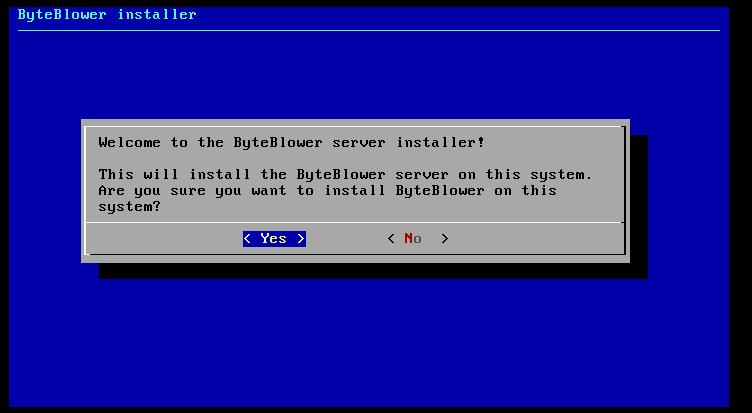 ByteBlower installer welcome screen